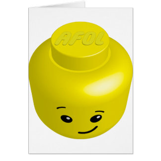 AFOL minifig head Greeting Card