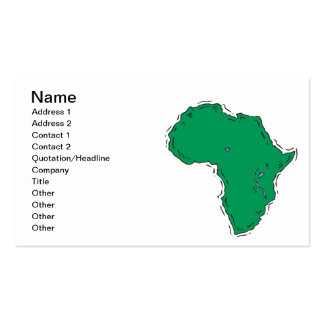 Africa Pack Of Standard Business Cards