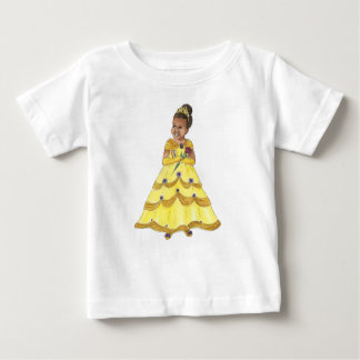 African American Beauty Princess baby tshirt