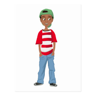 African American Children character design Postcard