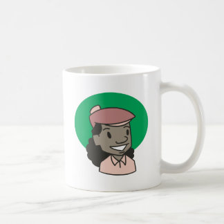 African American Woman Golfer Basic White Mug