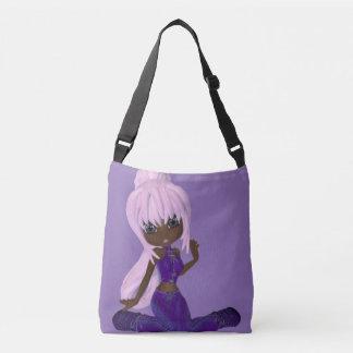 African American Woman Purple Medium Bag Tote Bag