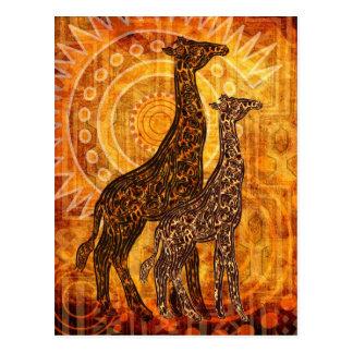 African buzzer postcard