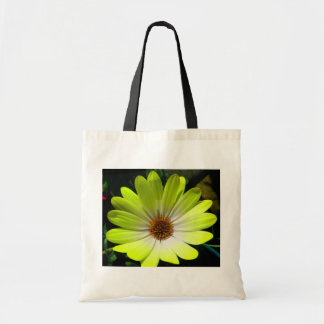 African Daisy Fluorescent Yellow Budget Tote Bag