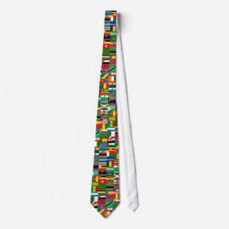 African Flags Necktie