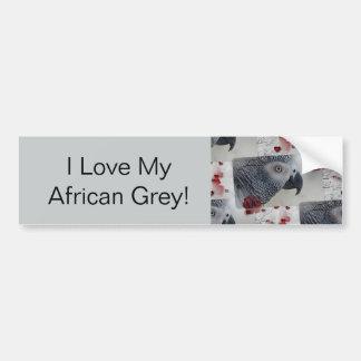 African Grey Love Letters Bumper Sticker