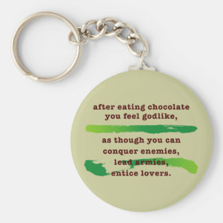 after eating chocolate basic round button key ring