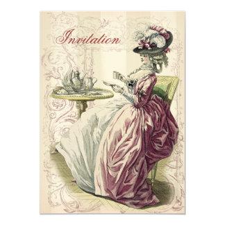 Afternoon Tea, on ivory, 13 Cm X 18 Cm Invitation Card