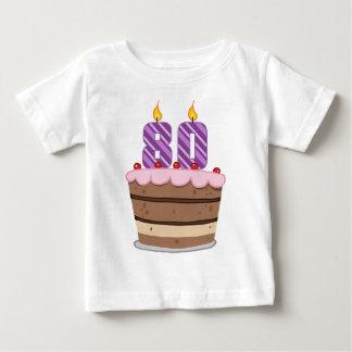 Age 80 on Birthday Cake T Shirt