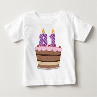 Age 81 on Birthday Cake Tshirt
