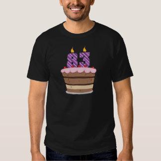 Age 83 on  Birthday Cake T-shirt