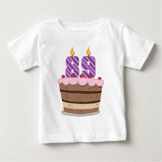 Age 89 on Birthday Cake T-shirts