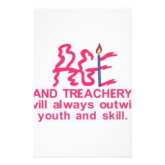 Age & Treachery Personalised Stationery