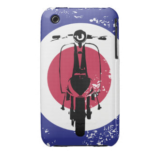 Aged mod target with retro scooter iPhone 3 case