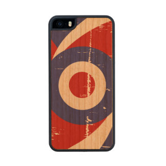 Aged retro Mod target design Wood iPhone SE/5/5s Case