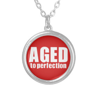 Aged to perfection round pendant necklace