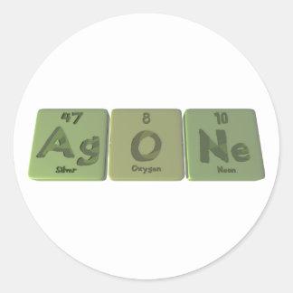 Agone-Ag-O-Ne-Silver-Oxygen-Neon Round Sticker