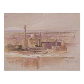 Agra Mosque, Cairo, 1849 Postcard