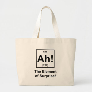 Ah! The Element of Surprise Jumbo Tote Bag