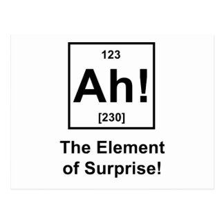 Ah! The Element of Surprise Postcard