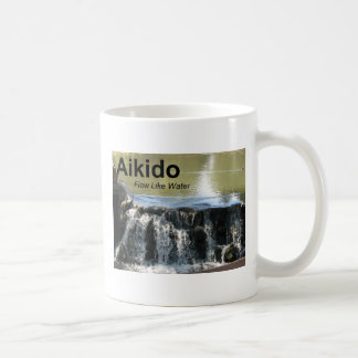 Aikido Flow Like Water Mug (with Aikido kanji)