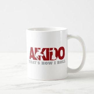 Aikido Thats How I Roll Basic White Mug
