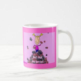 Ain't that the berries! basic white mug