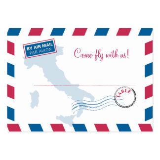 Air Mail Escort/Seating Card Wedding Pack Of Chubby Business Cards