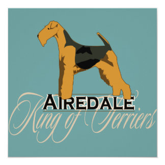 Airedale, King of Terriers, Detailed 13 Cm X 13 Cm Square Invitation Card