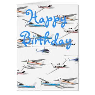 Airplanes birthday card