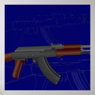 AK47 BluePrint Poster