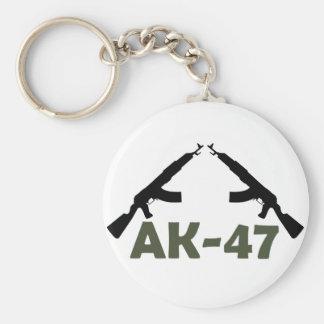 AK-47 BASIC ROUND BUTTON KEY RING