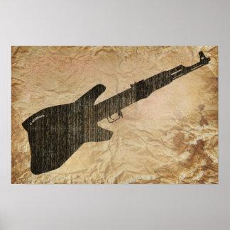 AK 47 Guitar Poster