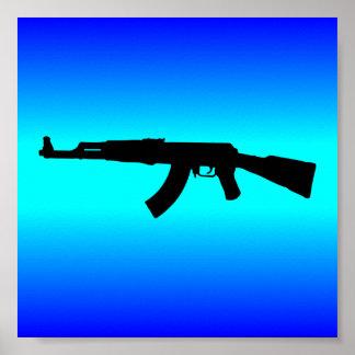 AK-47 Silhouette Poster