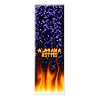 Alabama Hottie fire and flames blue marble. Pack Of Skinny Business Cards