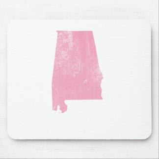 Alabama - Pink Vintage Grunge Mouse Pad