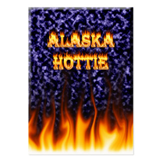 Alaska Hottie fire and flames Blue marble. Pack Of Chubby Business Cards