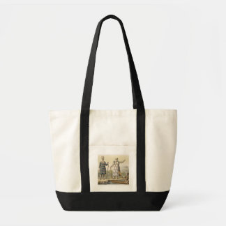 Alaskan man and woman (colour engraving) impulse tote bag