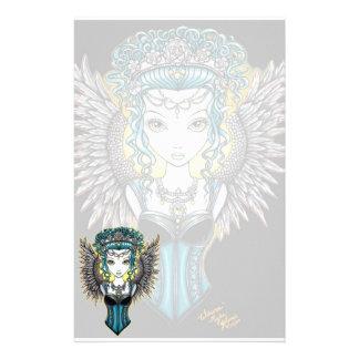 """Alaura"" Gothic Guardian Angel Stationery"