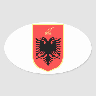 Albania Coat of Arms Oval Sticker