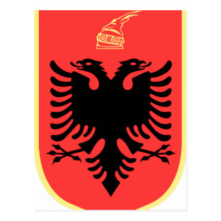 Albania Coat of Arms Postcard