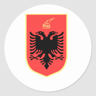 Albania Coat of Arms Round Sticker