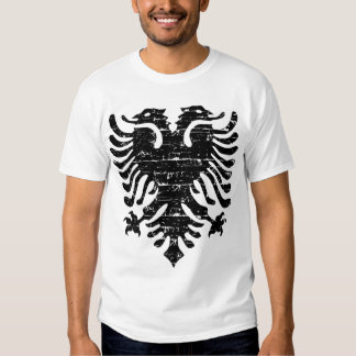 Albanian eagle emblem t shirts