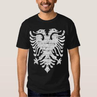 Albanian flag distressed design t shirts