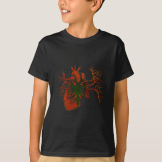 Albanian Flag in Real heart T Shirt