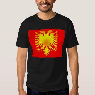 Albanian Golden Eagle Flag Tee Shirts