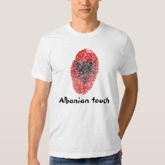 Albanian touch fingerprint flag tee shirt