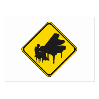 Alert: Piano Player Ahead! Pack Of Chubby Business Cards