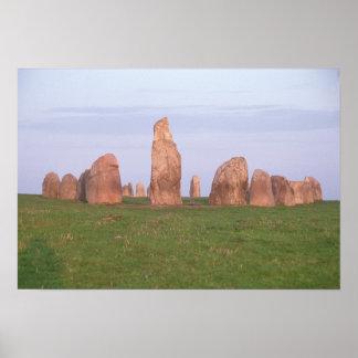 Ales Stenar 'ship setting' stone circle Poster