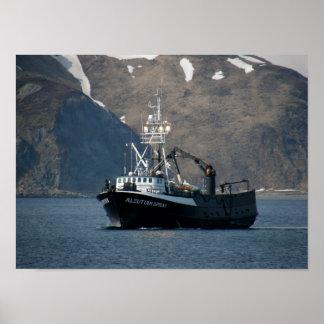 Aleutian Spray, Crab Boat in Dutch Harbor, Alaska Poster